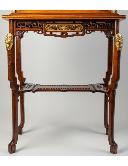 A Vitrine-cabinet-on-stand attributed to Gabriel Viardot.  19th century.