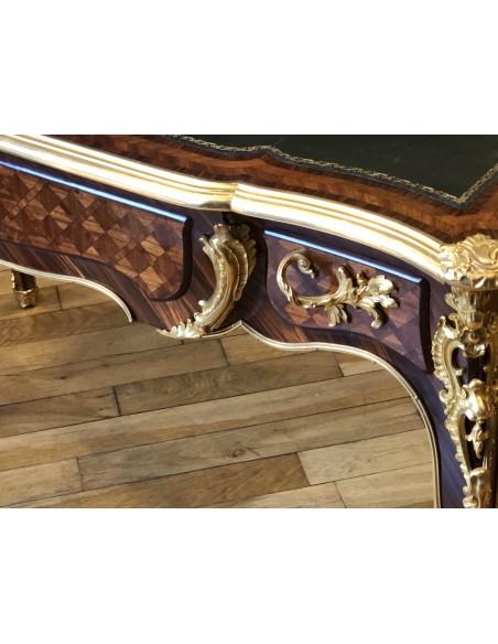 A Napoleon III period (1848 - 1870) desk in Louis XV style. 19th century.