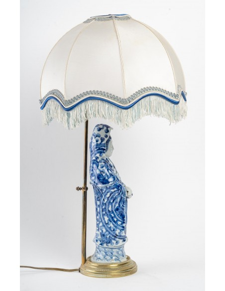 A China Porcelain Lamp.  19 century.