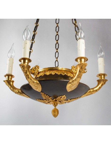 A Chandelier in the First Empire Style.  19 century.