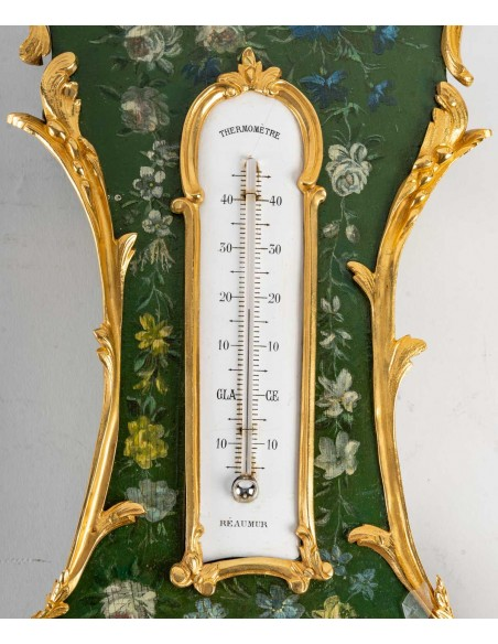 A Napoleon III period (1851 - 1870) Barometer - Thermometer.  19th century.