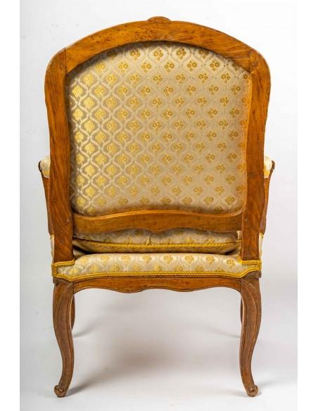 "A Pair of Louis XV (1724 - 1774) period ""bergères"" armchairs.  18th century."