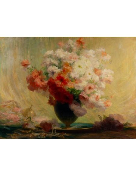Achille Cesbron (1849 - 1913) : A bouquet of flowers.