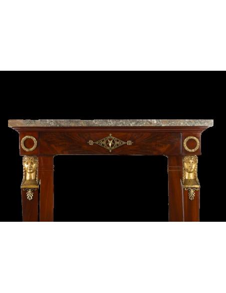 A 1st Empire period (1804 - 1815) console table. 19th century.