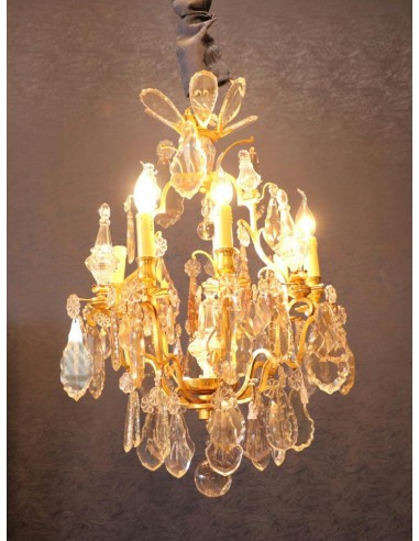 A Louis XV style chandelier. 19th...
