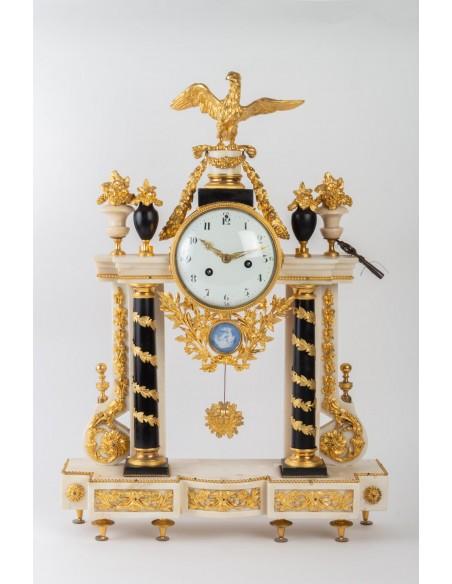 A Louis XVI period (1774 - 1793) portico clock. 18th century.