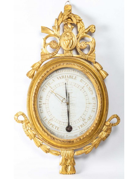 A Louis XVI period (1774 - 1793) barometer - thermometer. 18th century.