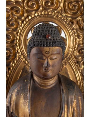 A Statue of Buddha Amida.  18th century.