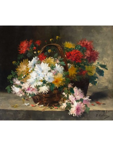 Chrysanthemum in a basket. 19th century.