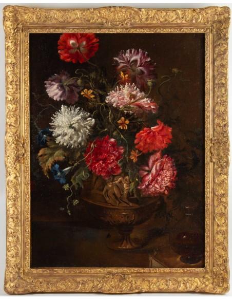 Bouquet de fleurs.XVIIIème siècle.