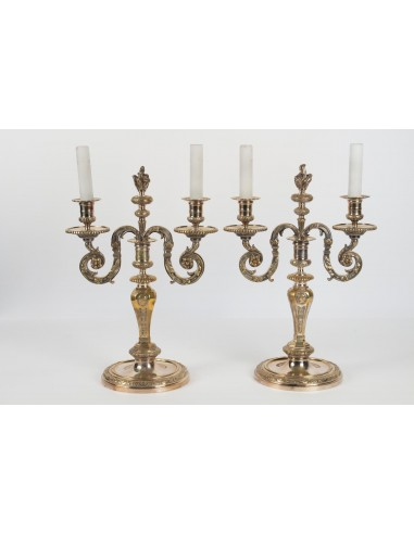 A Pair of Regence style candelstick....