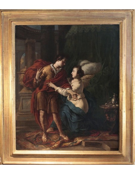 Johannes Voorhout (1647 - 1723): Joseph and Potiphar's wife.