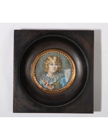 Miniature - Portrait of Roi de Rome. 19th century.