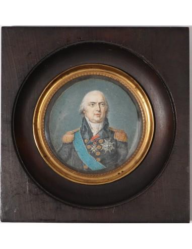 Miniature - Portrait of Louis XVIII....