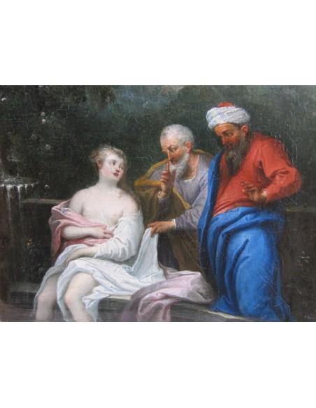 Susanna and the Elders. 18th century.