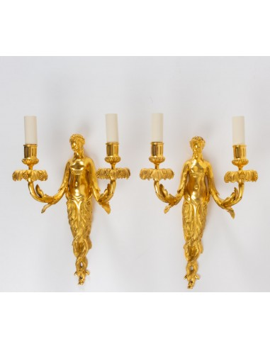 A Pair of Louis XVI style wall...