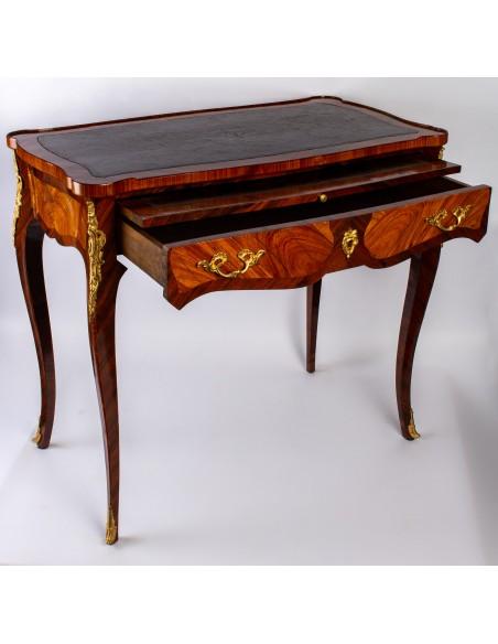 A Napoleon III period (1848 - 1870) desk in Louis XV style. 18th century.