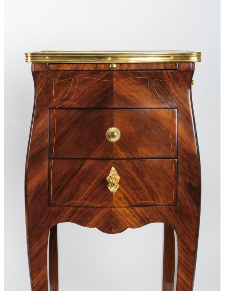 A Pair of Louis XV style bedside tables. 19th century.