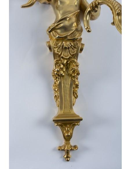 A Pair of scones in Regency style.  19th century.