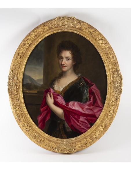Portrait de femme. Signé et daté. Revel 1706.XVIIIème siècle.Epoque Louis XIV.