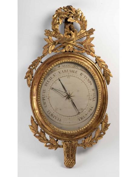 A Louis XVI period (1774 - 1793) barometer. 18th century.